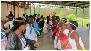 PBI participants learning traditional Rwandan dance