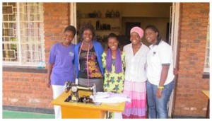 Four women from the Icyizere Cooperative, established through the EYE project