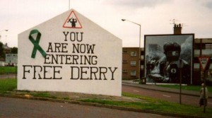 A republican warning - graffiti in Londonderry